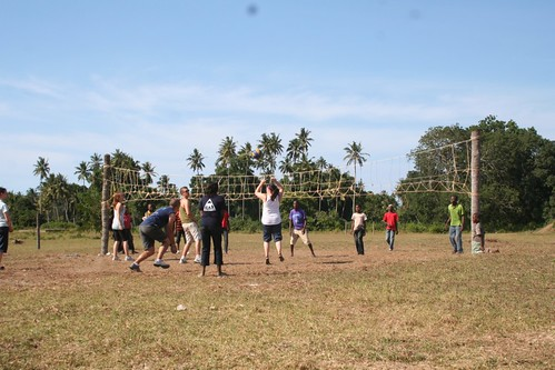 Sports with the local secondary school in Tanga