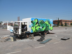 ex truck take 3 (neppanen) Tags: streetart art abandoned broken glass truck finland graffiti helsinki derelict tiers trashed fps senoritas ksr vaffanculo rasik hyltty discounterintelligence leepu sampen seinioritas perkama