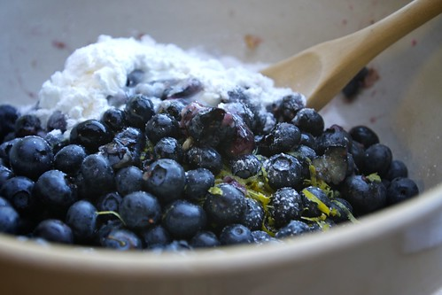 blueberries, cornstarch, sugar & lemon