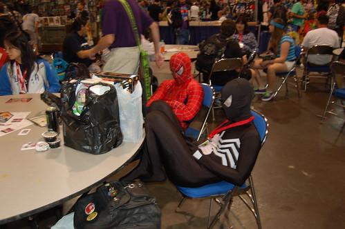 Comic Con 2010: Sleeping Spidermen