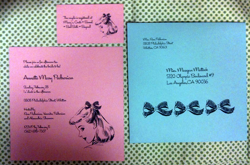 My wedding shower invites
