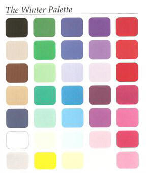 Scan of the winter color palette