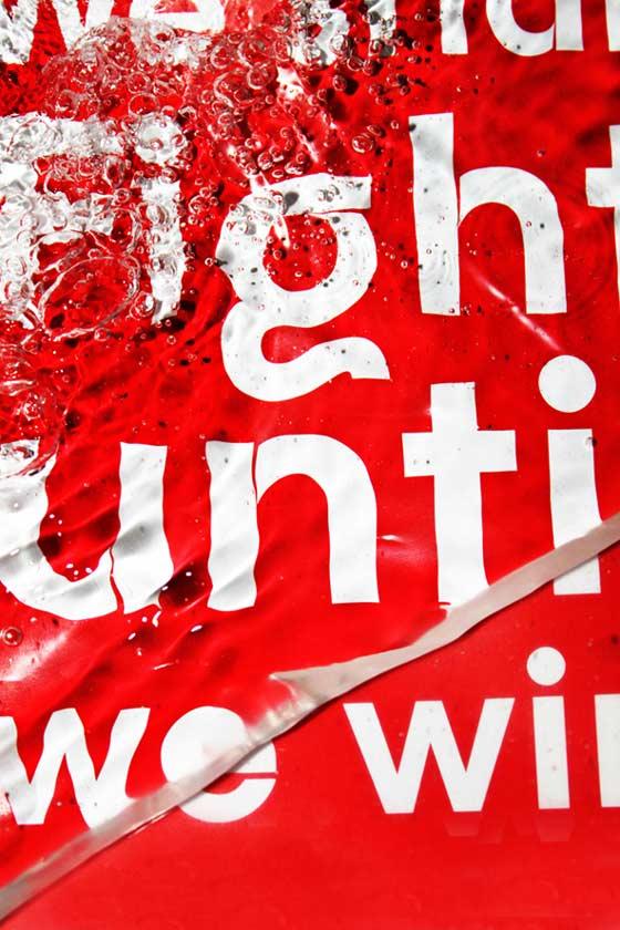 tipografía y agua