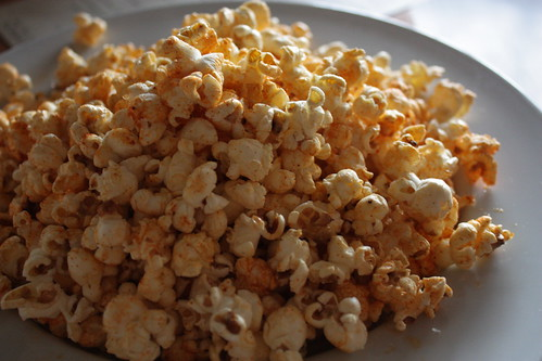 They serve popcorn. POPCORN. At a restaurant. Never have I heard of anything so magical.