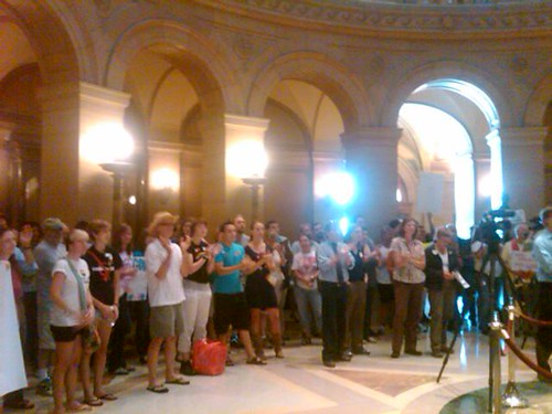 Pro-equality rally inside the Minnesota Capitol Rotunda
