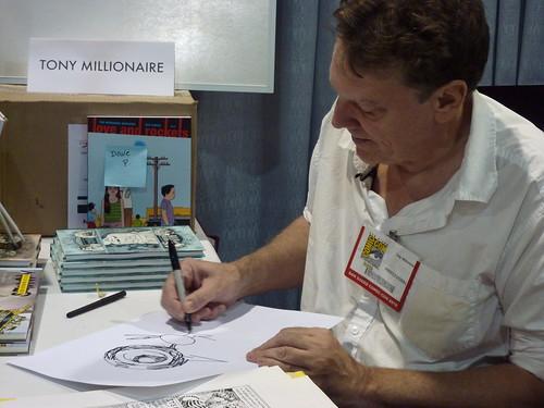 Tony Millionaire - Fantagraphics at Comic-Con 2010