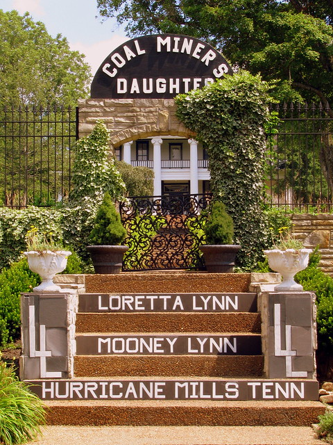 The steps to Loretta Lynn's Yard & Mansion