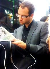 Commuter #74 (gary8345) Tags: london train underground reading tube commute commuter passenger 2010 iphone charlieapp commutergraphy