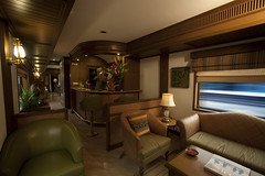 Bar Car on a Luxury Train (Train Chartering & Private Rail Cars) Tags: indiantrain privatetrain privaterailcar chartertrain traincharter trainchartering privatecarriage luxurytravel luxurytrain luxurytrainclub indianluxurytrain maharajasexpress
