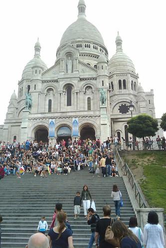 Sacré-Coeur? Sacrément! The girls with the umbrellas were dancing to Its Raining Men, BTW.