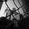 Urban Fences (Airicsson) Tags: street new york city nyc summer urban blackandwhite bw usa white ny black island lumix us walk manhattan fences panasonic 2010 streetshot blackwhitephotos lx3