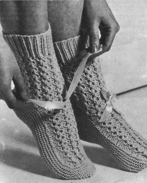 Knit Pattern Baby Booties : BED SOCKS KNITTING PATTERNS FREE PATTERNS