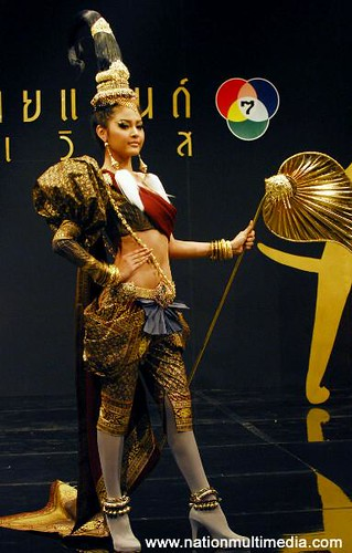 The Official national costume of Miss Thailand 2010