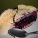 Blueberry Pie with Vanilla Ice Cream