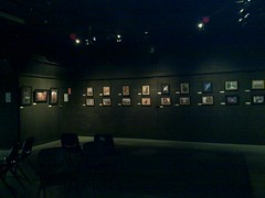 Exhibition setup at 1812 Theatre - my photos
