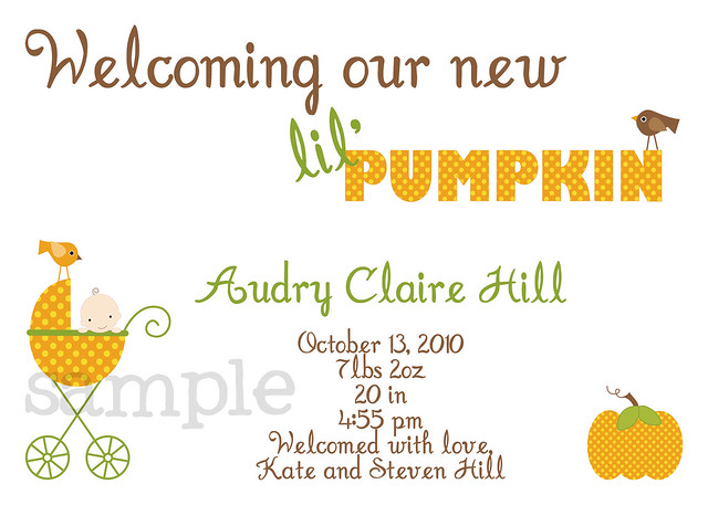 pumpkin announcement