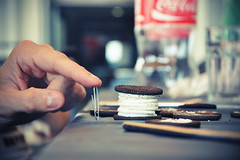 the ginOreo (thejuniorpartner) Tags: fun big cookie break yum finger coke biscuit snack hold orea