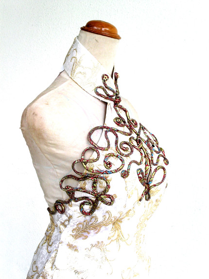 Mystic Cheongsam with Hand Knotted Cords