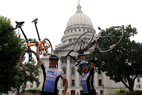 Alzheimers Breakthrough Ride: Rong Wang and Stephanie Soscia
