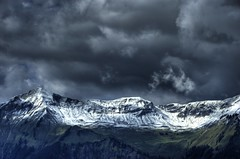 Mountain Range (Wild.Pictures) Tags: sky snow mountains clouds switzerland nikon brienz d70 hdr mountainrange rothorn axalp hdraward