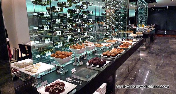 Hotel breakfast buffet selection