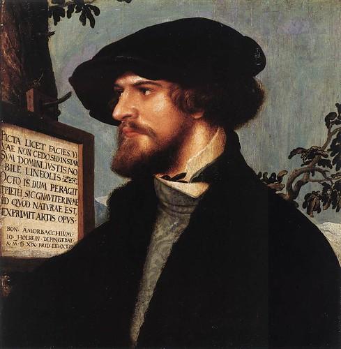 025-Portarretrato de  Bonifacius Amerbach 1519-Hans Holbein el Joven