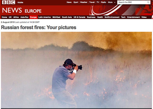 BBC Screen Capture: Russian forest fires