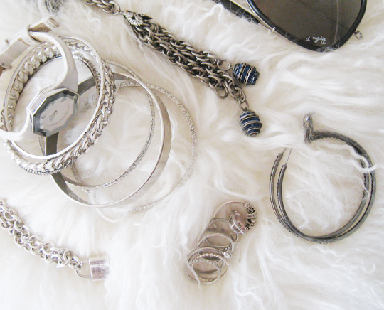 silver chains rings accessories
