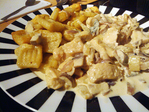 Creamy Chicken and Fennel with Handmade Garlic Roasted Gnocchi - The Inky Kitchen