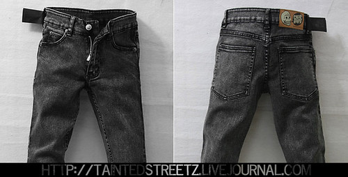 #8 Stone washed dark grey
