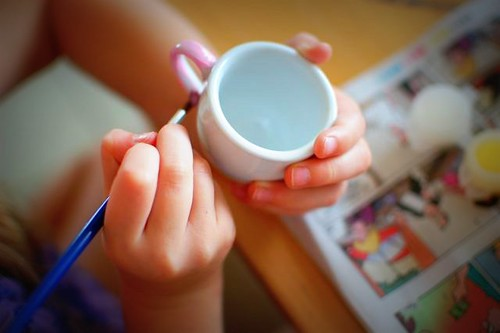 painting teacups