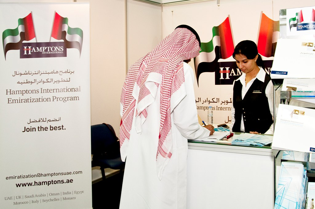 Hamptons International focuses on hiring part time and full time Emirati employees and Interns at the AUD career fair