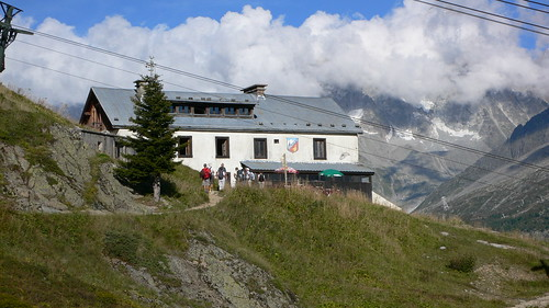 Refuge Flegere above Chamonix