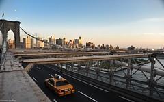 Brooklyn Bridge (Geoffray Chantelot | Photographe) Tags: voyage trip travel sunset usa newyork car brooklyn nikon automobile unitedstates lyon taxi automotive voiture roanne d700 photographebridge