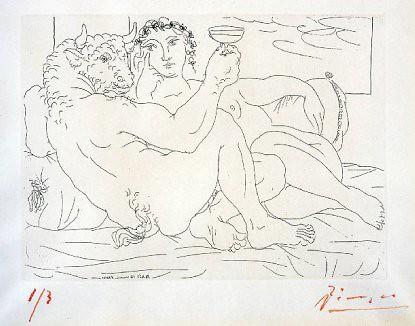 10i09 Minotauro y mujer Suite Vollard