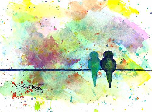 Carnival Colors  ~ Love Birds