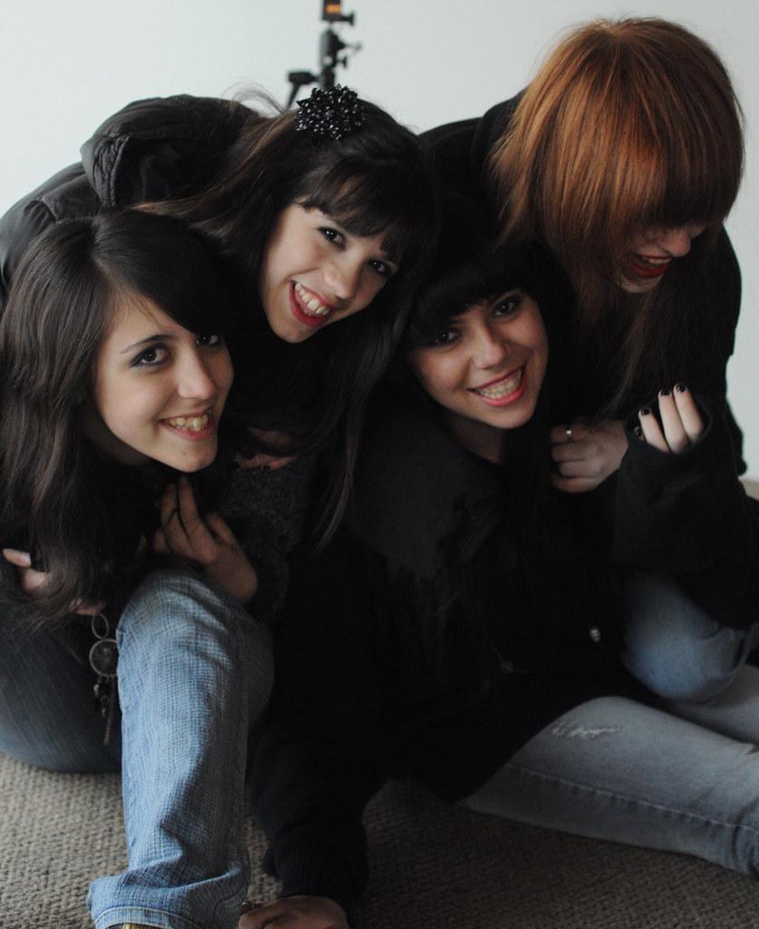 sesión de fotos con amigas