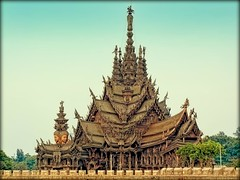 The Sanctuary of Truth | Pattaya | Thailand (I Prahin | www.southeastasia-images.com) Tags: sculpture color monument thailand temple wooden carved khmer unique buddhist chinese buddhism carving eccentric hindu utopia attraction pattaya bayon naklua khunlek gettyimagessoutheastasiaq1
