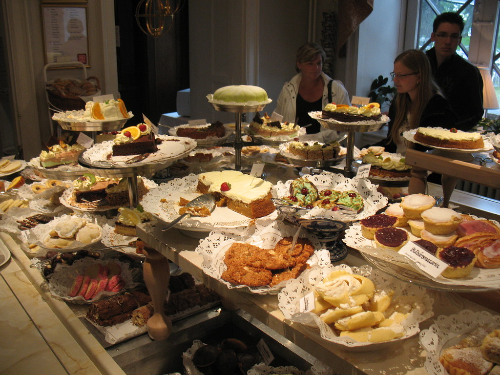 26e6b45c3c83 bakery feast, all locally made (Vilseskogen) Tags: cakes cookies cake  baking cafe