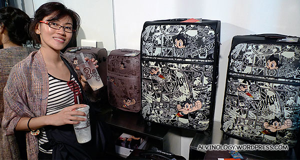 Astroboy suitcases! I would have bought one of these if not for the fact that I just bought a new suitcase recently.