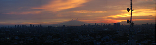 Manila Sunset Panorama