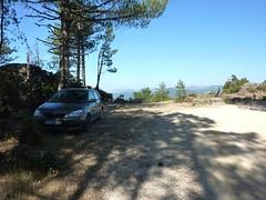 Parking du départ vers Boccca Vechigianu sur la piste forestière Pelza-Piglia (984m)