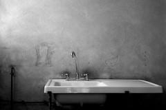Cinq (Delay Tactics) Tags: light bw white black france sink 5 explore taps lavabo charente cinq évier robinets doline anville cloaque