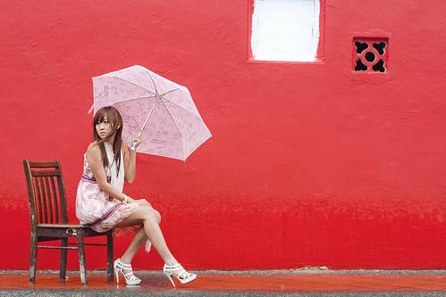 フリー写真素材, 人物, 女性, アジア女性, 傘, シンガポール人,