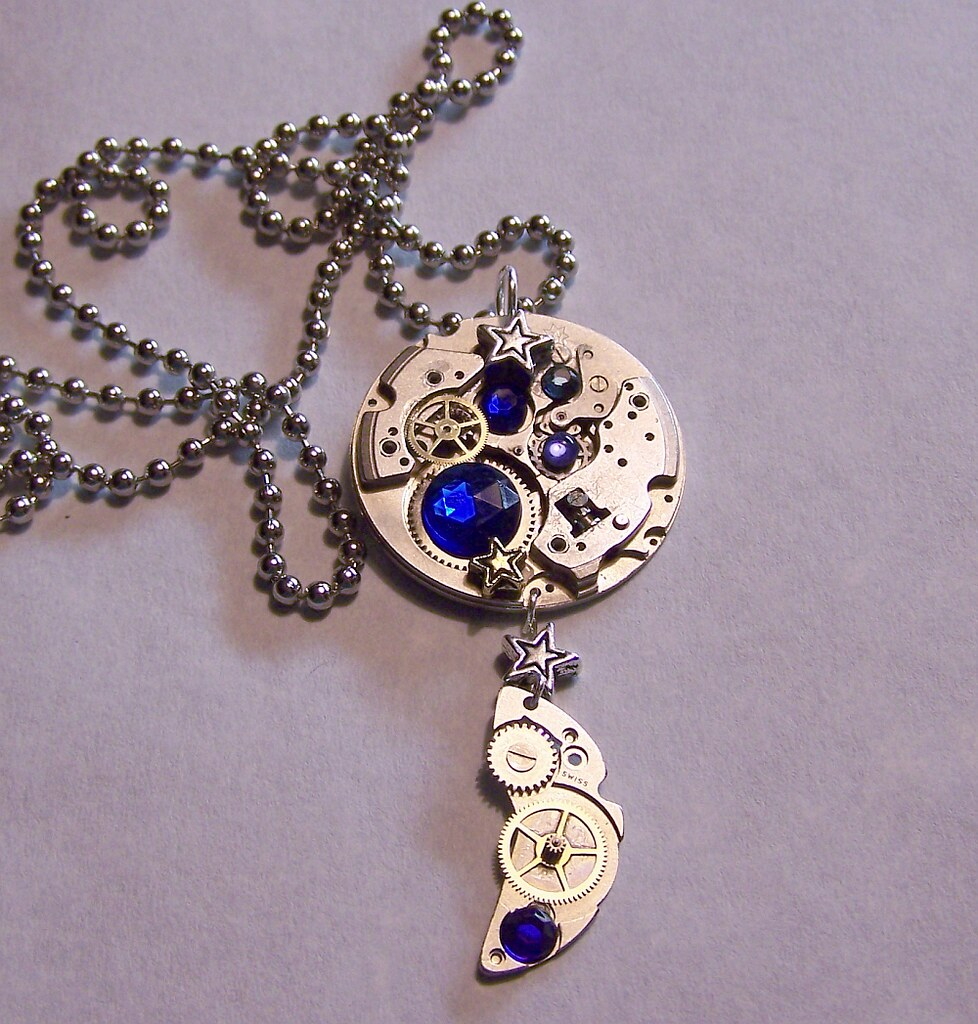 Sapphire Watch Moon Phase Pendant