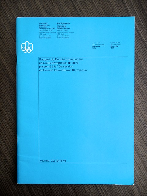 1976 Montreal Olympics Committee Report