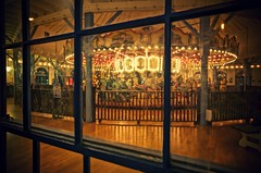 santa monica carousel (Eric 5D Mark III) Tags: light reflection window night vintage pier floor santamonica atmosphere carousel tone ef1635mmf28liiusm