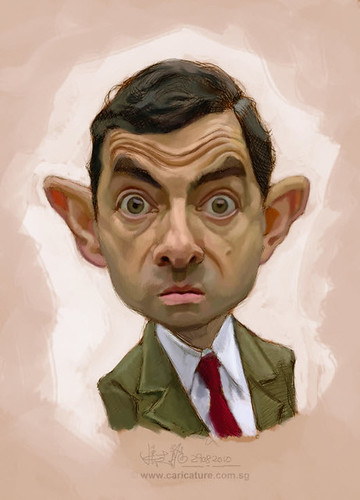 digital sketch of Mr Bean - 3 small