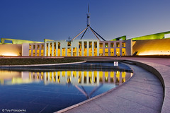 Canberra Blue Hour (-yury-) Tags: house australia parliament canberra act