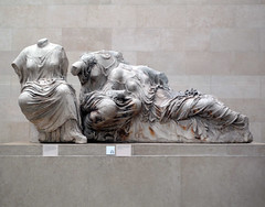 Phidias, Parthenon, East Pediment Sculpture (Hestia, Dione, Aphrodite?)